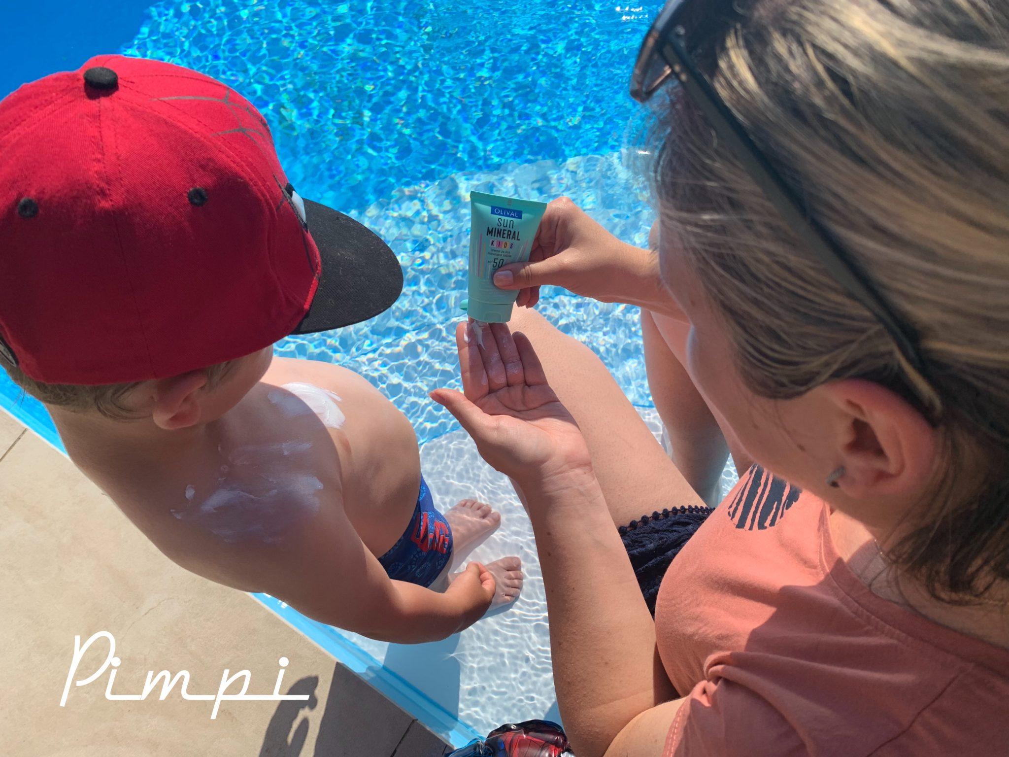 pimpi-bábo do sveta-s deťmi-mama blog-tipy a rady-opaľovanie-krémy-vhodné pre deti-olival-prírodná kozmetika-pozor na slniečko-SPF50-SPF30-hurá voda-bazén-prázdniny-rakovina kože-pozor-detská pokožka